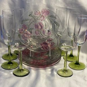 Green and rose set